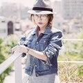Дешевые оптовая 2017 новый Осень-Зима Горячие продажа женская мода случайные студент семь минут рукав куртки милые джинсовые пальто