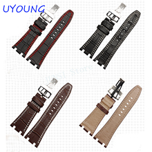 Quality Genuine Leather Watchband Folding Clasp For Mens 28mm For Audemars Piguet Watch Strap