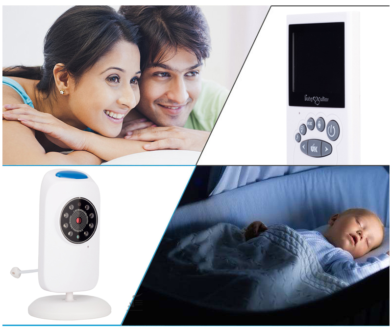 Hoomall Wireless Baby Monitor Baby Care LCD Screen Camera Video Baby Security 2.40 inch 2 Way Talk Night Vision LED TemperatureHoomall Wireless Baby Monitor Baby Care LCD Screen Camera Video Baby Security 2.40 inch 2 Way Talk Night Vision LED Temperature