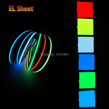 6 Color Optional Glowing 10X10CM Novelty Lighting EL Sheet e