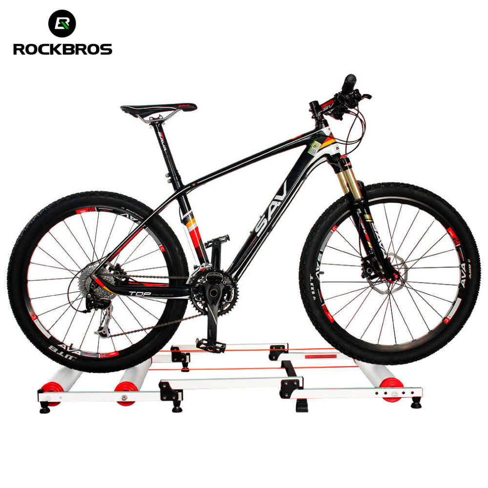 ROCKBROS Bicycle MTB Bike Trainer Roller Training Tool Station Folding Road Bike Exercise Fitness Station 3 Stage Bike Parts free indoor exercise bicycle trainer 6 levels home bike trainer mtb road bike cycling training roller bicycle rack holder stand