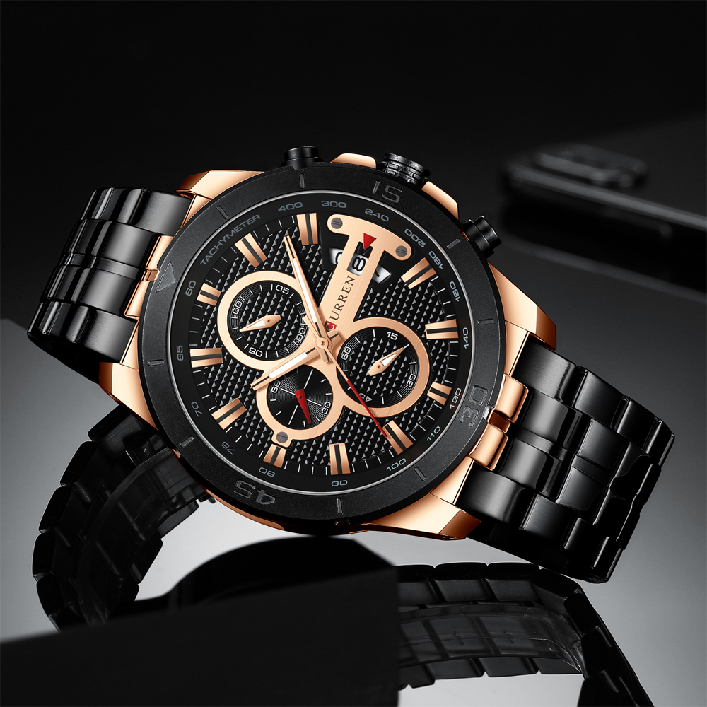 HTB1gcizcCWD3KVjSZSgq6ACxVXa9 CURREN Men Watch Luxury Watch Chronograph