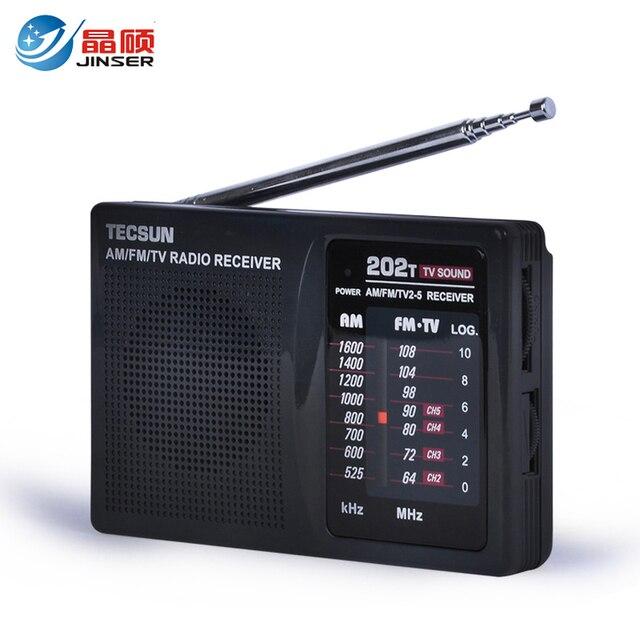 TECSUN R-202T FM/AM/TV Звук Портативный Fm-радио Приемник 3.5 мм Разъем Для Наушников для ходьбы на открытом воздухе
