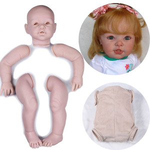Kit reborn, boneca não pintada, 29 polegadas, grande, peças de bonecas, kits de silicone, reborn, realista, kit de bebê, acessórios de boneca