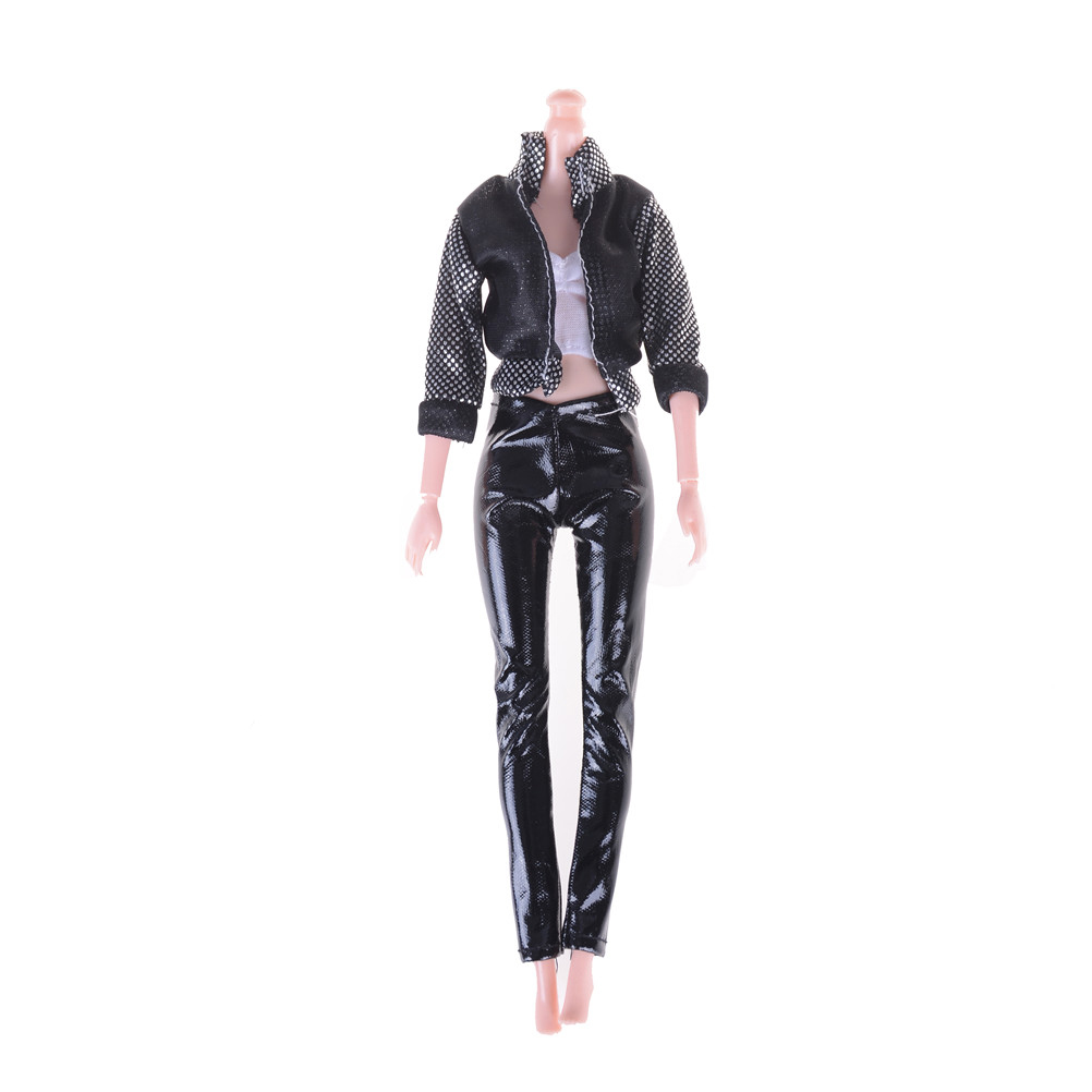 Newest 1Set Fashion Coat+ Vests+ Trousers Accessiores For  Windbreaker Clothes Trousers Pajamas Doll Lifestyle Suit