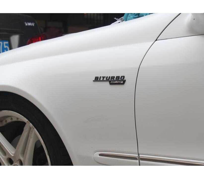 3D Hitam Trunk Huruf Badge Emblem Emblem Lencana untuk Mercedes Benz GLK350 GLK200 GLK220 GLK300 GLK63 V8 Biturbo AMG 4 matic