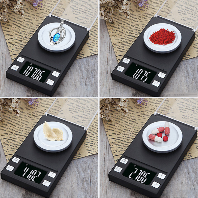 High Precision 0.001g 50g 100g Electronic Jewelry Lab Scales Diamond Gold Germ Medicinal Pocket Digital Milligram Scale Balance
