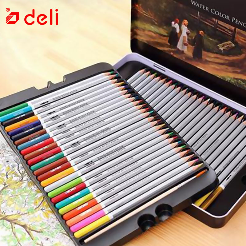 Deli Professional Color Pencil Student Painting Drawing Pencil Set School Stationery 24/36/48/72 Colors Pen Artist SuppliesDeli Professional Color Pencil Student Painting Drawing Pencil Set School Stationery 24/36/48/72 Colors Pen Artist Supplies