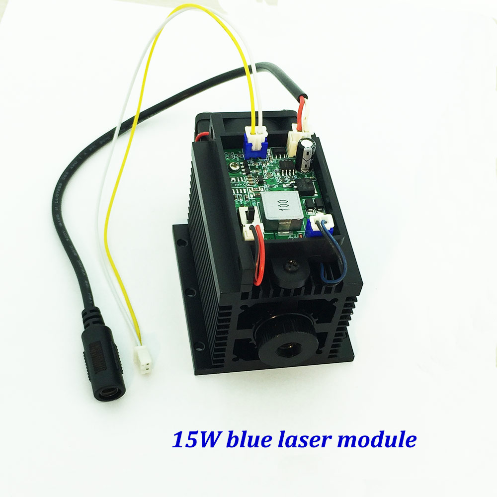tgleiser cnc part 15000mw blue diode laser module 450nm 15w focusing engraving TTL laser tube metal wood cut paper 15w laser module 450nm focusing blue laser module laser engraving and cutting ttl module 15000mw laser tube free glasses