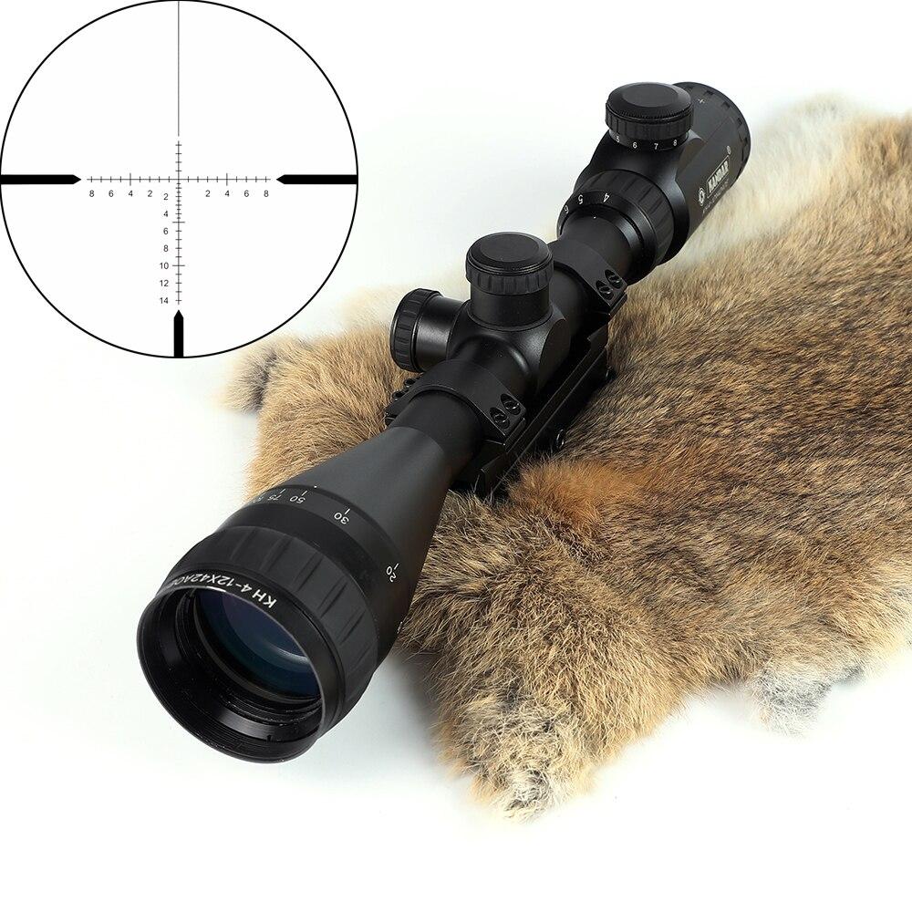 KANDAR Ov Riflescope KH 4-12x42 AOE Qırmızı İşıqlandırılmış - Ovçuluq - Fotoqrafiya 2