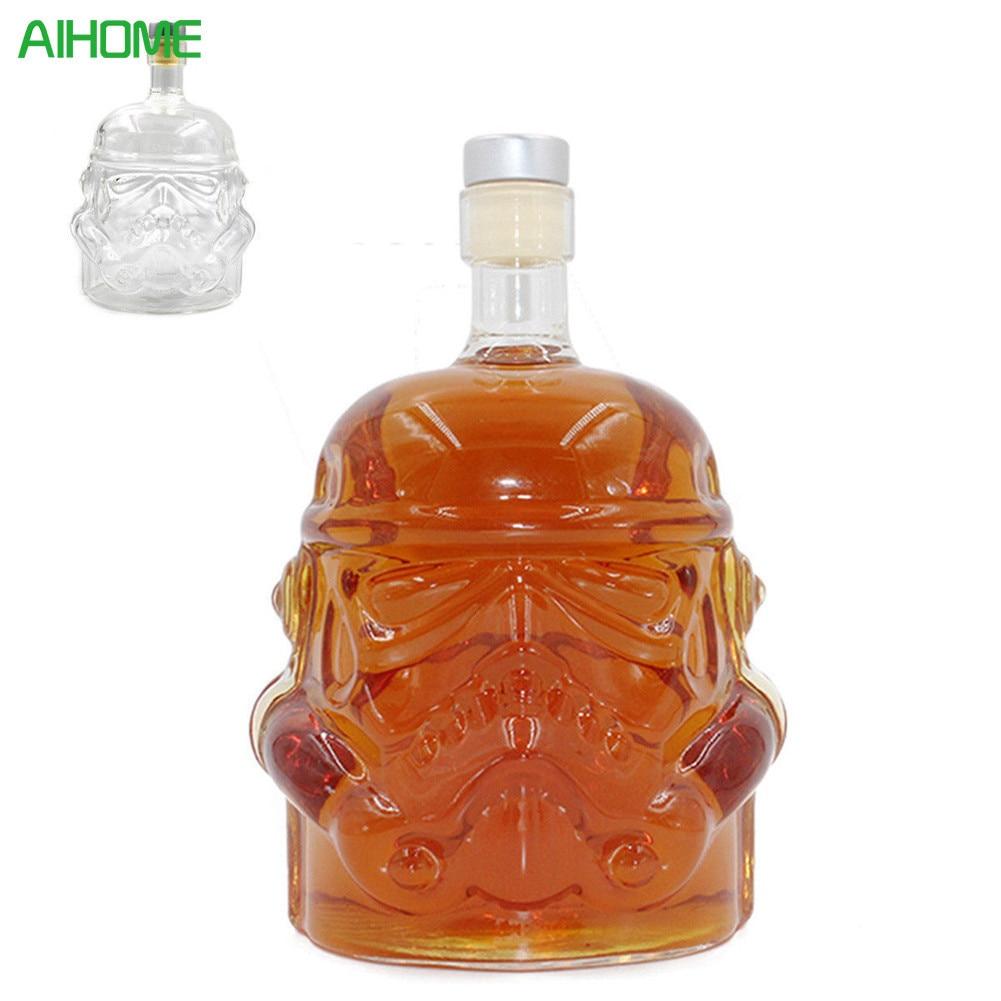 1pcs Wine Bottle Star Wars Stormtrooper Crystal Wine Glass Bottle Shot Glass Cup Home Bar Tools Set Decoration