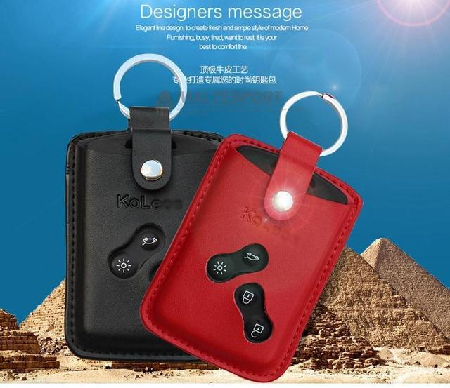 dedicated key package for Renault Koleos Leather key sets of key package smart card package