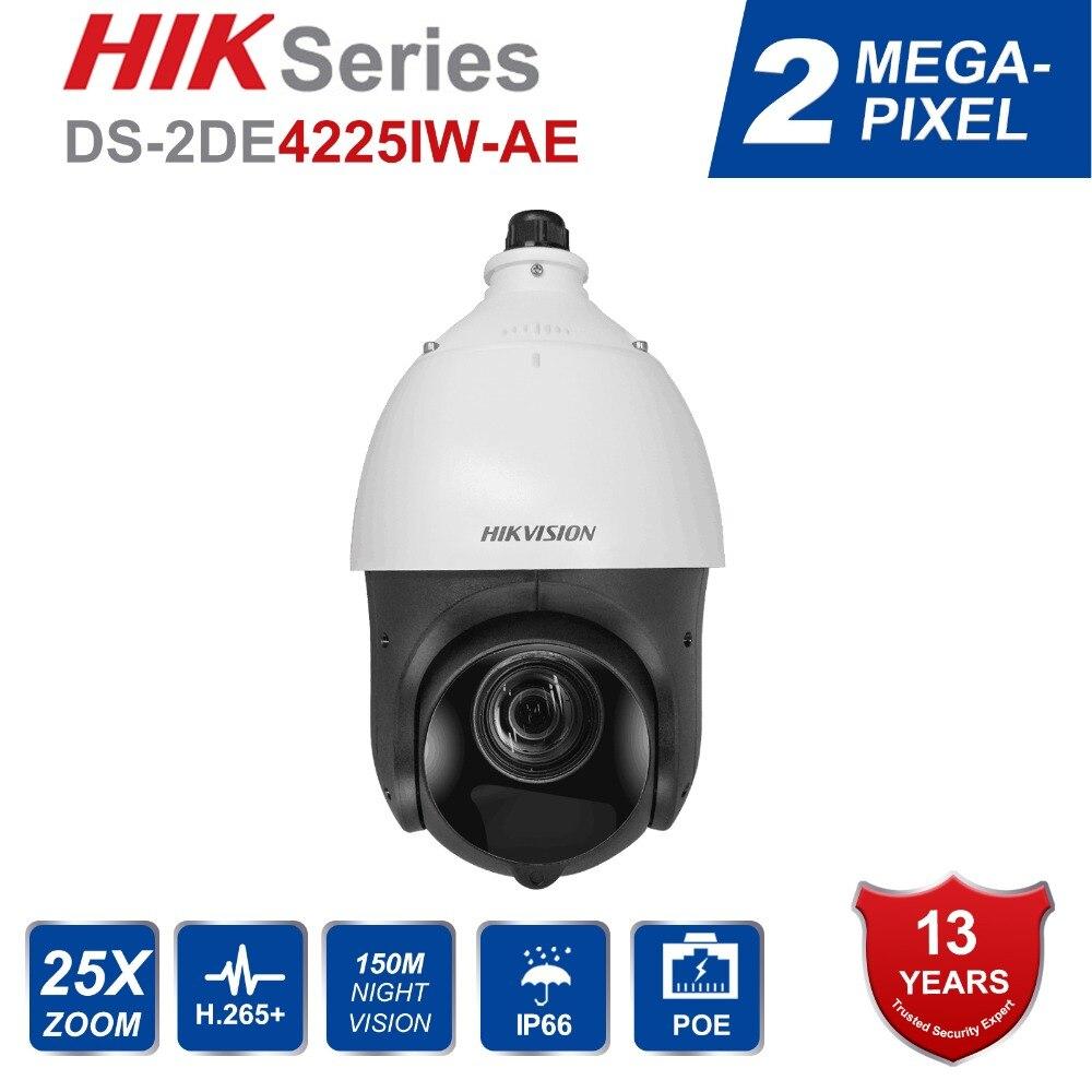 Megapixel Câmera PTZ IP Hik Original Inglês DS-2DE4225IW-DE 2 25X Motorizado Zoom Speed Dome CCTV Camera IR 100 m Lente 4.7-94.0mm