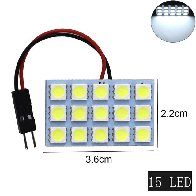 1 ensemble voiture panneau lecture carte lampe 5050 6 9 12 15 24 36 48 LED SMD dôme intérieur ampoule toit lumières BA9S T10 C5W adaptateur Festoon Base 4
