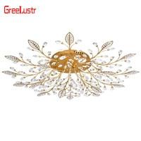 Modern LED Crystal Chandelier Ceiling Lamps G4 Gold Black Luxury Lustre Luminaire For Living Room AC110V 220V lighting Fixture