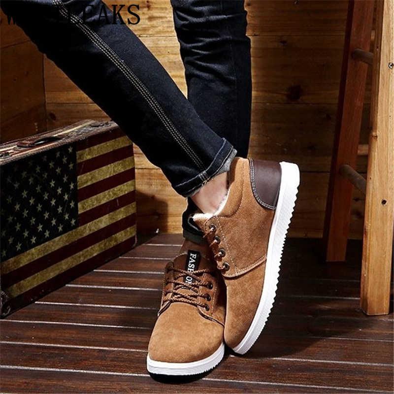 Suède schoenen mannen winter laarzen mannen designer schoenen enkellaarsjes mannen mode schoenen 2019 korte pluche zapatos casuales hombres nl cuero