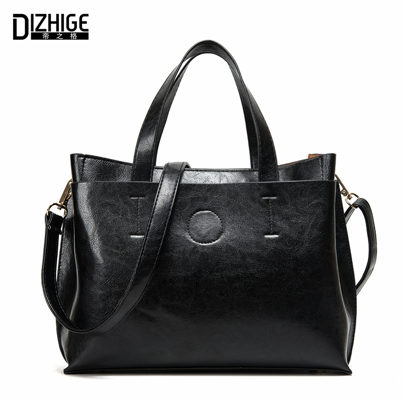 DIZHIGE Brand Fashion Women Bags Designer Ladies Handbags Famous PU Leather Bags Women Handbags High Quality Tote Female Sac New dizhige brand 2017 fashion thread crossbody bags plaid pu leather bags women handbags designer shoulder bags ladies sac spring