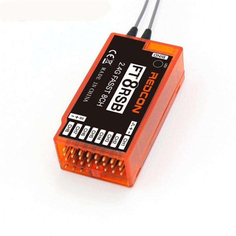 REDCON 2,4 ghz 8CH FT8RSB Empfänger Für Futaba Kompatibel TM7 TM8 TM10 TM14 T6EX-2.4G 7C-2.4G T8FG T10CG T12FG