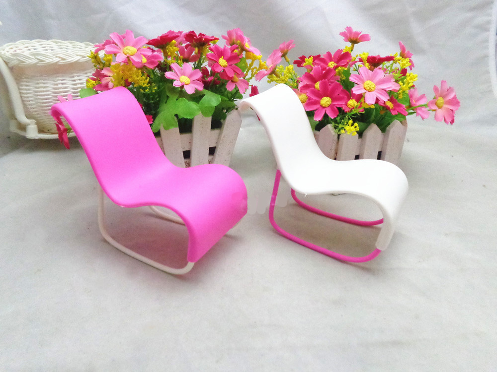 1pc Furniture Rocking Beach Chair Lounge For Barbie Doll