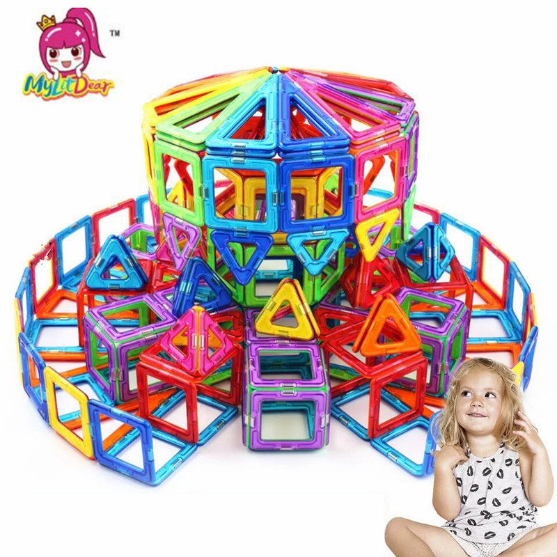 16-45pcs Mini Size Magnetic Designer Construction Set Model & Building Toy Magnets Magnetic Blocks Educational Toys For Children