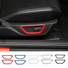 MOPAI ABS автомобилей накладки на автомобильные сиденья и пуговицы украшения крышки кольцевые наклейки для Ford Mustang 2015 до автомобиля аксессуары для укладки