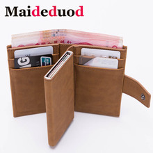 Maideduod 2019 New Style RFID Card Holder Minimalist Wallet Metal Men Women card id holders Aluminium Blocking for Cards