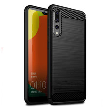 Fashion Soft TPU Silicone Case For Huawei P20 Carbon Fiber Brushed Cover Pro P 20 Lite Shockproof Back