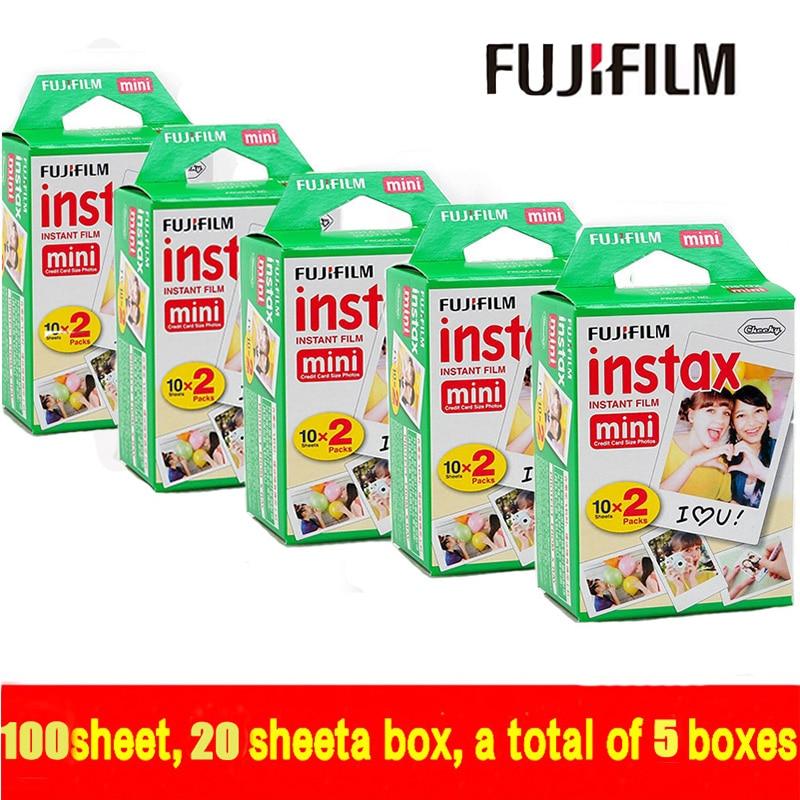 9b52da4c5982 Genuine Fujifilm Instax Mini 100 sheet Film Instant White Edge For Fuji  Mini 7s 8 25 50s 70 90 300   Share SP-1 free shipping