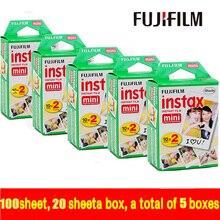 Подлинная fujifilm instax mini 100 лист фильм мгновенно белый край для fuji мини 7 s 8 25 50 s 70 90 300 и Поделиться СП-1 бесплатная доставка