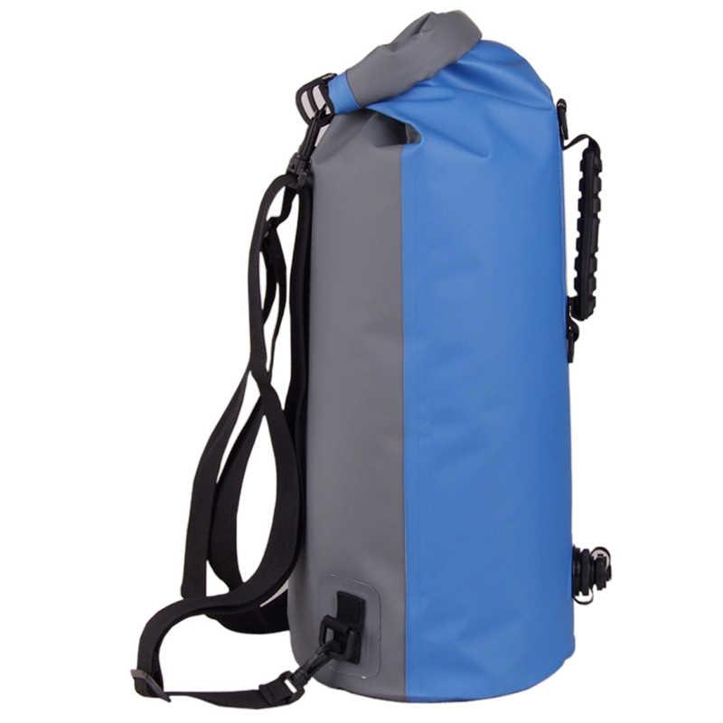 25-60L profesional IPX7 impermeable bolsa de natación 2019 hinchable Snorkeling Rafting Drifting buceo seco bolsa mochila cosas saco