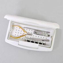 Pro Nail Sterilizer Tray Disinfection Pedicure Manicure Sterilizing Box Nail Art Sterilizer Tray Box Sterilizing Salon Tools