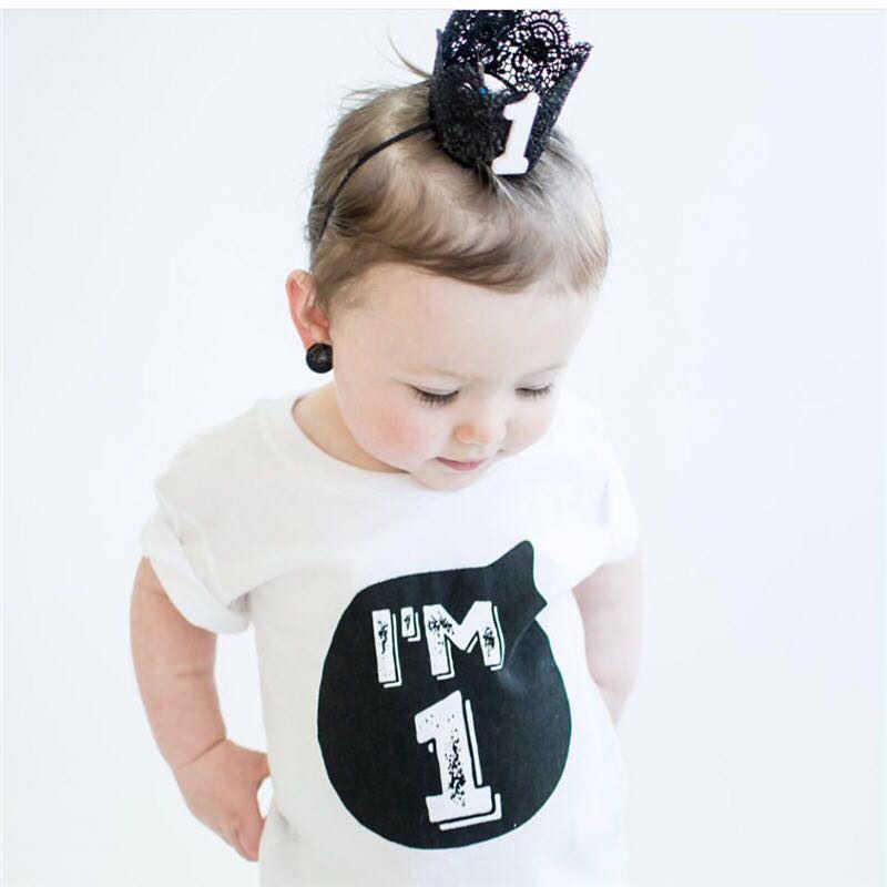 b5e4e84df Niño de manga corta Niño sólido ropa Camiseta Tee blanco negro camisetas  para bebé camisetas 1