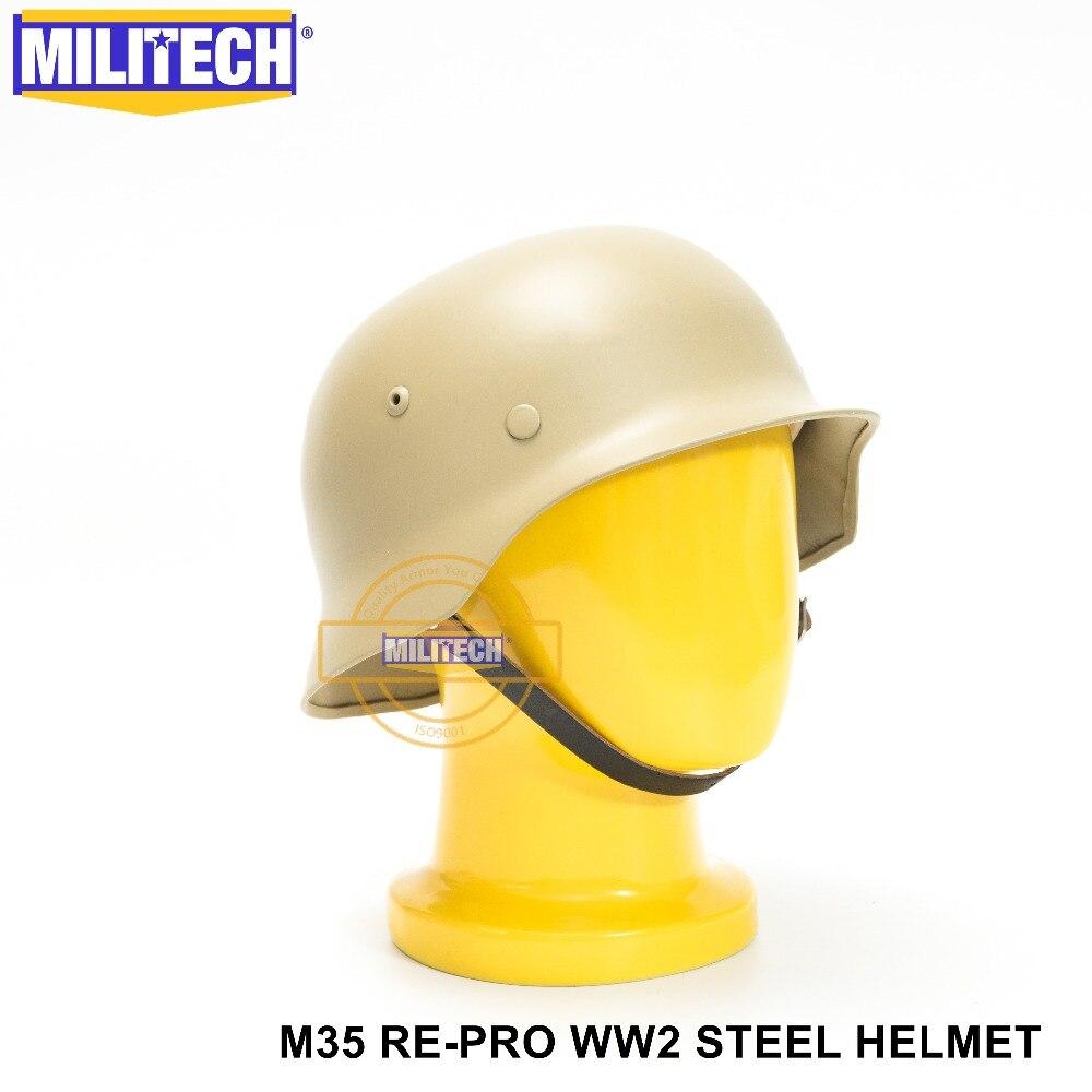Schutzhelm Sicherheit & Schutz Liefern Militech Grün Ww2 Deutsch M35 Stahl Helm Ww Ii M35 Repro Deutsch Helm Motorrad Sicherheit Helm Weltkrieg 2 Sammlung Helm