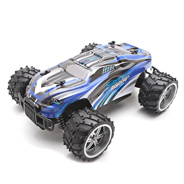 1:16 Электрические Rc Cars Масштабная Модель 2WD Приводной вал Грузовики Off Road Высокая Скорость Дистанционного Управления Автомобилем Игрушки для Детей синий
