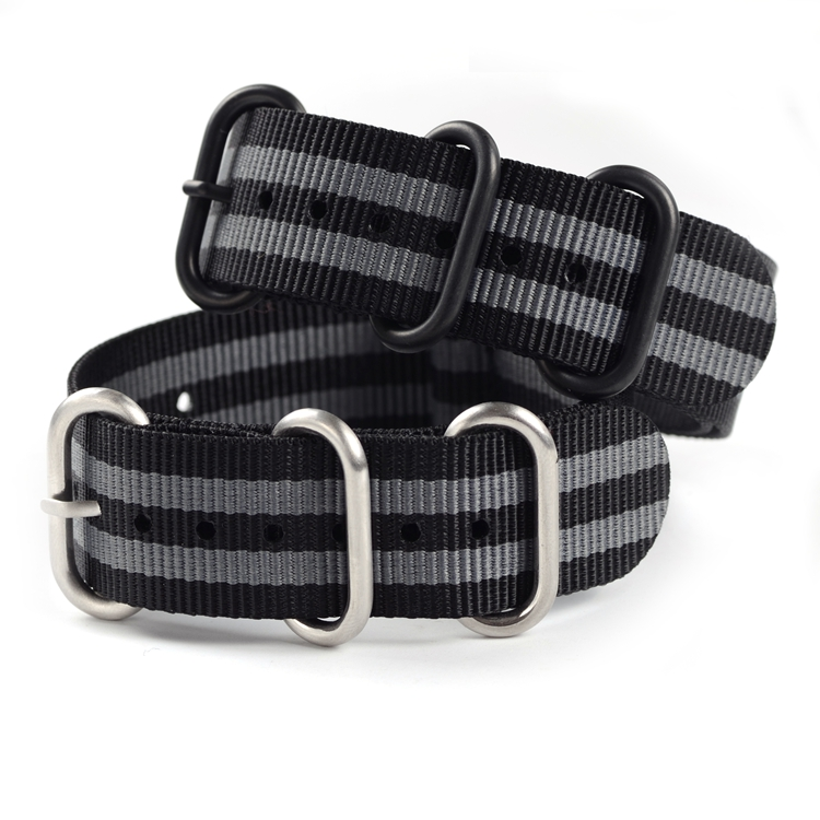 1pc Top Quality 20mm 22mm 24mm Nylon Watch Band Nato Zulu Watch Band Straps with 5 Rings black buckle Silver buckle new high quality straps for nato 18mm 19mm 20mm 21mm 22mm 23mm 24mm 26mm black green sports leisure woven nylon watch straps