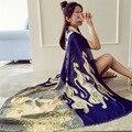 Nuevo invierno Leones impresión bufandas de Algodón de gran tamaño bufandas mujeres bufanda caliente