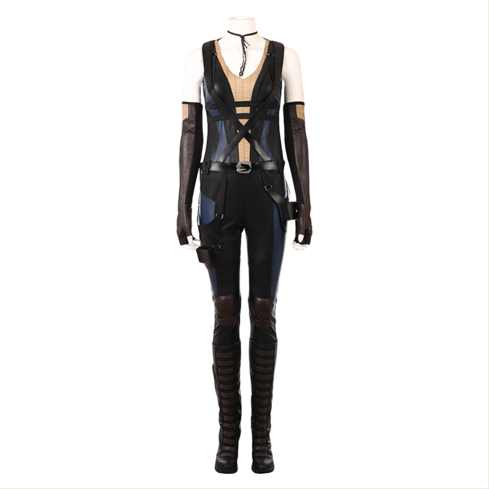 Deadpool 2 Domino Neena Thurman Cosplay Costume Outfit Adult Men Halloween Carnival Costumes