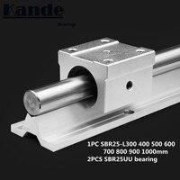 linear rail 25mm SBR25 300 400 500 600 700 800 900 1000 mm 1 pc linear guide SBR25 + 2 pcs SBR25UU blocks for CNC