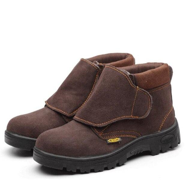 Chaussures de soudage nouveau 2020 hommes bottes travail chaussures de sécurité en acier embout Anti-fracassant Anti-crevaison Durable respirant protection