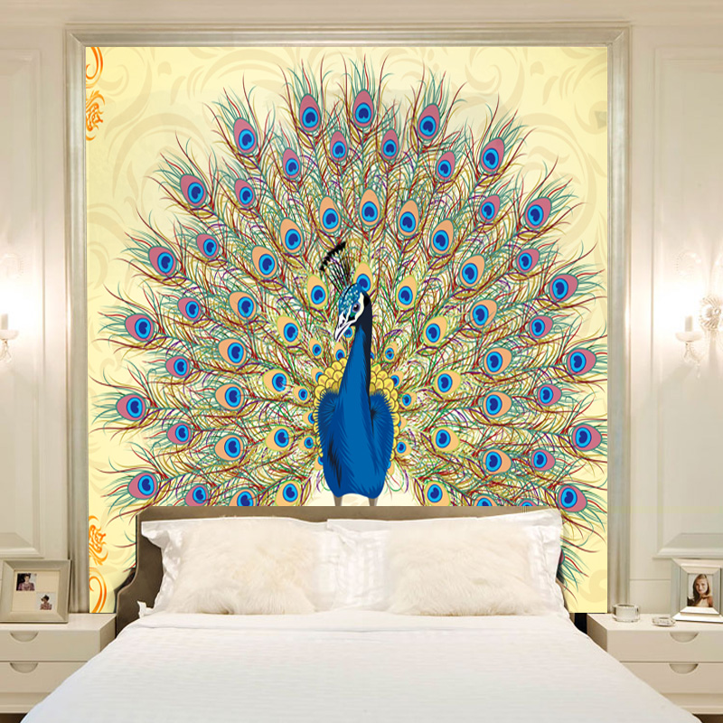 w wholesale peacock wall paper