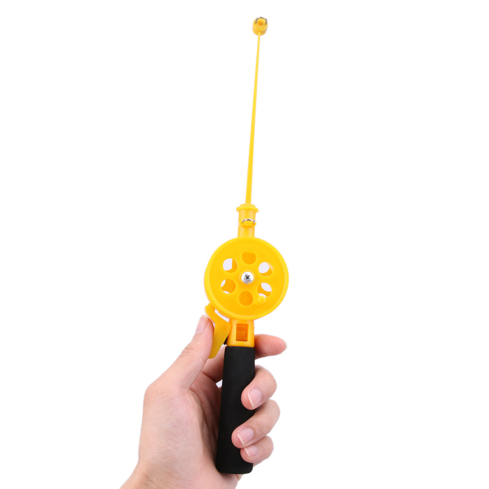 Hot selling Portable 33cm Mini Ice Fishing Rod Plastic Children Fishing Pole With Reels Fishing Tackle Tool Ultra-light 41g