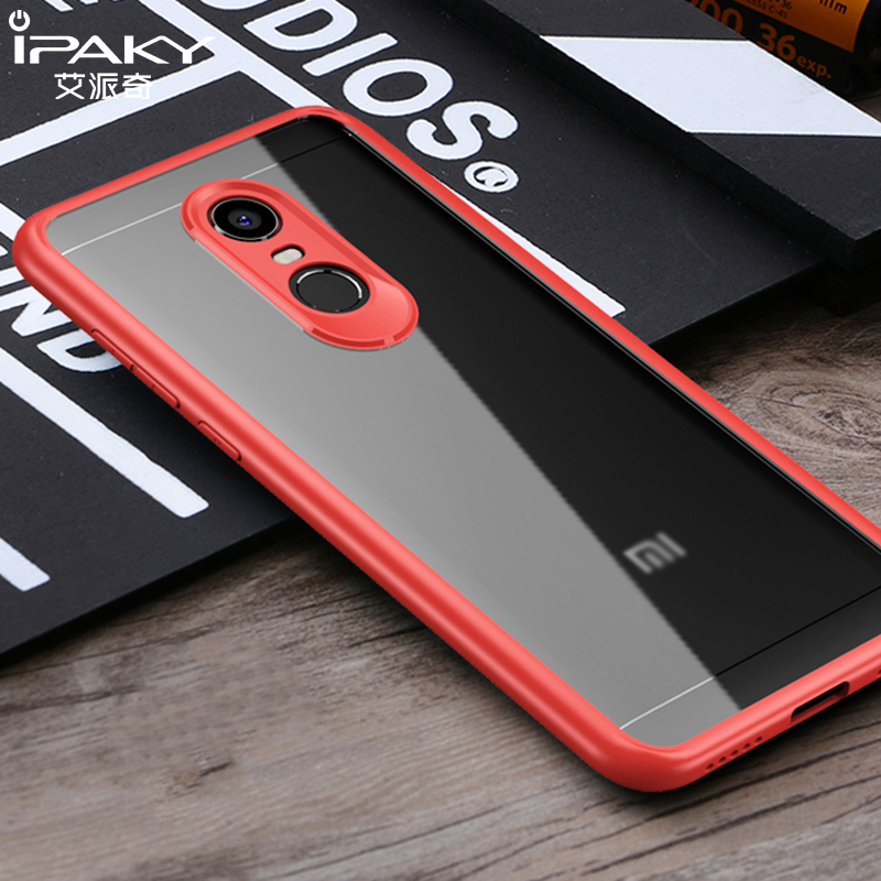 iPaky For Xiaomi Redmi 5 Plus Case Hard Transparent Back Phone Cover Silicone Soft Frame For Xiaomi Redmi5 2017 Hybrid Armor