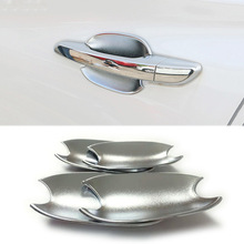 For Hyundai Tucson 2015 2016 2017 2018 ABS Chrome Door Handle Cup Bowl Cover Trim sticker Car styling Accessories 4pcs for hyundai i20 ii 2 2015 2016 2017 2018 chrome car door handle cover accessories
