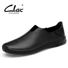 CLAX Mens Shoes Genuine Leather 2019 Summer Casual Shoe Male Loafers Mans Moccasins Footwear Breathable