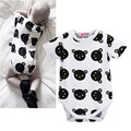 Unisex Baby Bodysuits Newborn Baby Clothes Body Short Sleeve Bodysuites Summer Unisex Baby Boys Girls Cute Bear Cotton Bodysuits