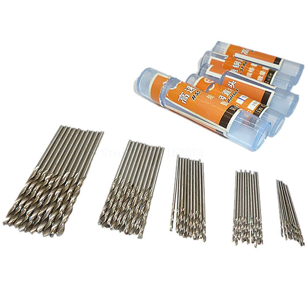 50pcs 0.6mm 0.8mm 1mm 1.5mm 2mm Hss High Speed Steel Drill Bit Set Twist Drill Bits Plastic Metal Wood Plastic Twist Drills Bit