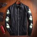 Китайский стиль цветочный узор вышивки качество MA1 бомбардировщик куртка Весна и Осень нового способа прибытия бутик куртка мужчины М-3XL
