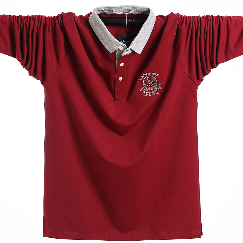 2020 Men Polo Shirt Autumn Men Fashion Casual Cotton Male Polo Shirts Long Sleeve Winter Hombre Polo Shirt Tees Oversized L-5XL