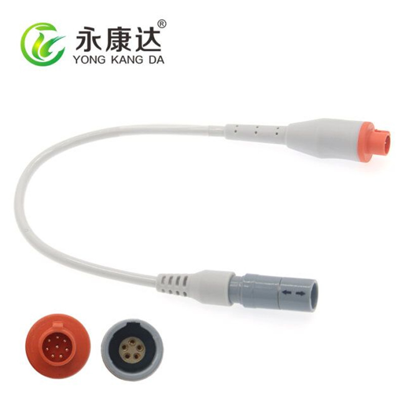 Compatible Siemens small 8p adapter to lemo 5pin female adapter cable  Compatible Siemens small 8p adapter to lemo 5pin female adapter cable