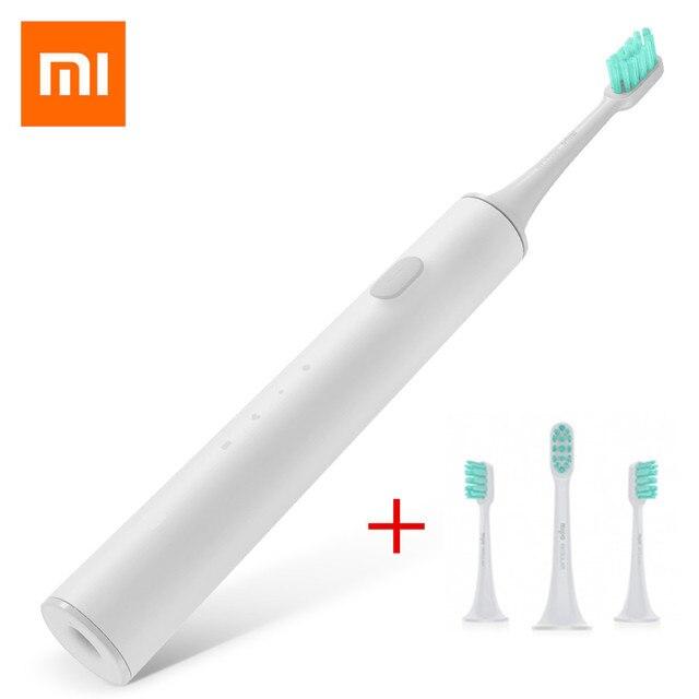 Xiaomi mi casa Sonic cepillo de dientes eléctrico impermeable cepillo de dientes higiene Oral Control de APP + 3 unids/set Xiaomi cabeza de cepillo de dientes